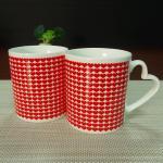 I Love You heat sensitive color changing mugs heart shape handle Manufactures