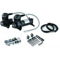 Quality Chick Black Dual Air Compressor  With Mounting Accessories , Steel And Chrome Material for sale
