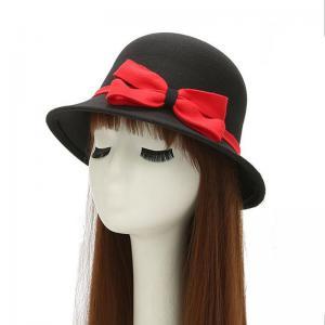 China 2 Inch Brim Cotton Bucket Hat , Adjustable Short Brim Fishing Cap Woven Label on sale