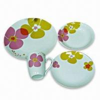 Porcelain Tableware/Dinnerware, OEM Designs and Customized Sizes are Accepted Manufactures