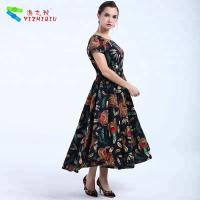 China YIZHIQIU black bohemian women dresses wholesale on sale