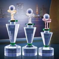 China Crystal Traditional Trophy Figurine Craft home decoration on sale