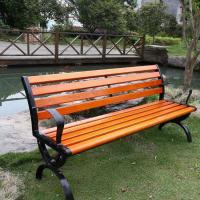 Waterproof Outdoor Natural Bamboo Park Bench With Antique Appearance Manufactures