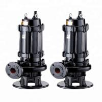 Centrifugal 3 Phase Submersible Sewage Pump Residential Areas Applied Manufactures