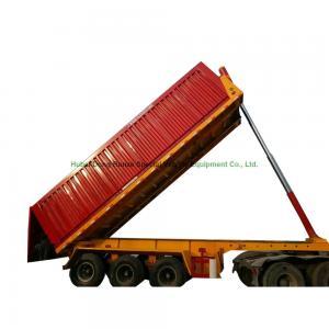 2 axles 3 Axles Hydraulic Rear Dump Semi Trailer  30 ton 60 ton  U shape Manufactures