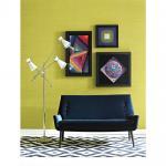 Dark Blue Fabric Upholstery Sofa , Modern Fabric Sofa European Style Manufactures
