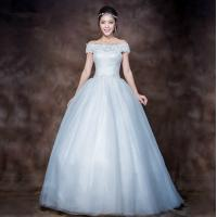Elegant 3D Slim Appliques Sweetheart Lace Wedding Dress with Sweep train , white Manufactures