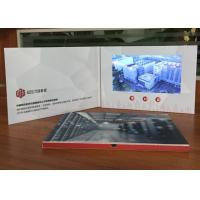 High impact promotional video brochure card 7inch TFT screen lcd video book with CMYK Printing  for product sales