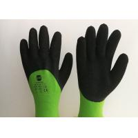 Acrylic Liner Crinkled Latex Coated Gloves Double Dipping Palm Pattern Manufactures
