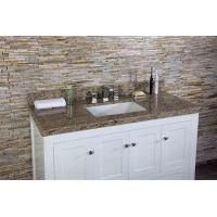 Customized size bathroom Vanity Top could be granite marble quartz artificial stone Manufactures