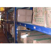 China 2.5M Long Garage Storage Racks 500KG/Layer White Assembly Columns Steel Materials on sale