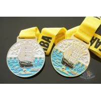 Dragon Boat And Swimming Metal Gold Award Medals For Art Gifts Customized Shape Manufactures