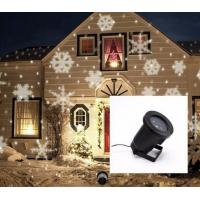 China Outdoor White Snowflake Laser LED Landscape Light Garden Holiday Time Christmas Decoration Lights on sale