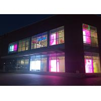 P4.81 Full Color Transparent LED Screen Glass High Definition IP43 Grade Manufactures