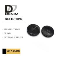 Black Fancy ing Buttons , Electroplating Bulk Craft Buttons Nickel Free Manufactures