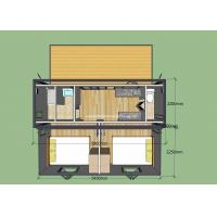 Stable Folding Container House With Sturdy Steel Frame / Sandwich Panel Manufactures