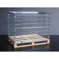 Stackable Wire Mesh Container with Wooden Pallet Manufactures