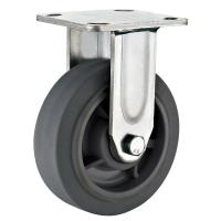 China 8X2 Grey Thermoplastic Rubber Wheel Heavy Duty Rigid Casters For Carts on sale