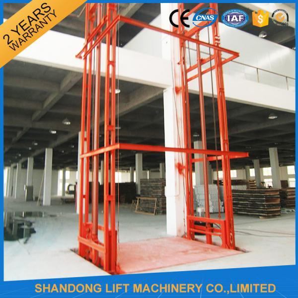 Quality Lead Rail Hydraulic Heavy Duty Elevator Lift Equipment Outdoor 200mm Pit Depth for sale