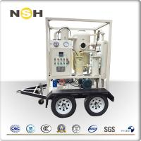 Small Size Insulation Oil Purifier High Efficiency 600 - 18000L/H Flow Rate Manufactures