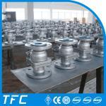 double flange 2pc cast steel ball valve Manufactures