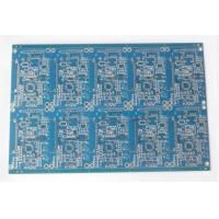 Double Sided FR4 Electronic Printed Circuit Board Blue Soldmask HASL Lead Free Manufactures