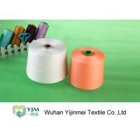 Bright Color Polyester Core Spun Yarn / Raw White Sewing Thread Low Shrinkage Manufactures
