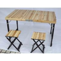 Lightweight Camping Wood Folding Table And Chairs Set For Garden Leisure Manufactures