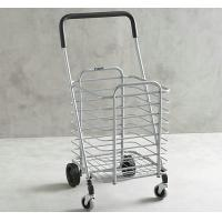 Powder Coated Metal Display Stands , Foldable Shopping Cart for Supermarket Manufactures