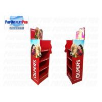 LED Lighting Poster POS Shelf Display Stands 4 Shelving Holding Strength 100KGS For Milk Manufactures