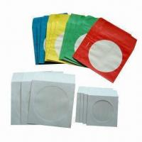 China Paper CD Sleeves with Window, Available in 80, 100 and 120g Weight, Comes in White or Colorful on sale