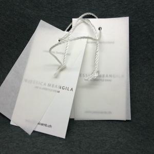 custom label garments hangtag printing for fashion design t-shirt hangtag Manufactures