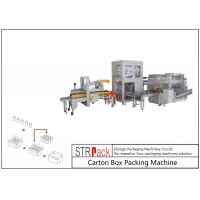 Automatic Industrial Carton Box Packing Machine Large Capacity For Bottle / Can Manufactures