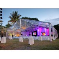 China Elegant Banquet Wedding Party Tent Clear Roof Top Hot Dip Galvanized Steel on sale