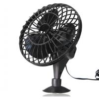 "Black 4"" Plastic Car Cooling Fan DC 12V Oscillating With On/Off Switch Manufactures"