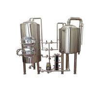 Manual Control Pilot Beer Brewing System Stainless Steel SUS304 Electric Heating Manufactures