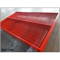 """Quality Construction Security Temp Fence panels 6ft /1830mm x 9.5ft /2950mm Frame 1.6""""/40mm*16ga mesh  3""""x6"""" *3.5mm for sale"""