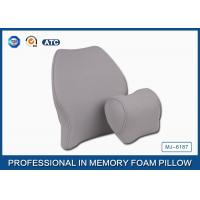 Soft Memory Foam Car Travel Pillow Filling Breathable with Deluxe Pillowcase Manufactures