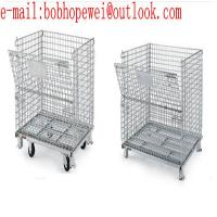 galvanized steel wire metal factory folding storage cages competitive price/metal Folding Metal Storage Cage for sale