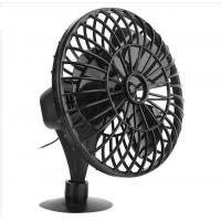 "4"" Plastic Car Fan DC 12V Black Fan With One Year Warranty OEM Service Manufactures"