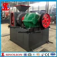 Double roller hydraulic iron ore powder briquette making machine supplier Manufactures