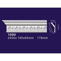 Auuan PU Decoration Home Moulding Curved Cornice Molding 1090 Manufactures