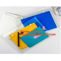 OEM Office stationery filing supplies plastic document pp envelope carrying file folder bag with button closure for sale