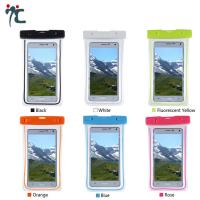 Buy cheap pvc mobile cell phone waterproof plastic polyester sports bag for phone from wholesalers
