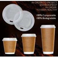 Biodegradable Eco friendly Disposable Cornstarch CPLA Cup,hot sale plastic coffee cup lid manufacturers fit for paper co Manufactures