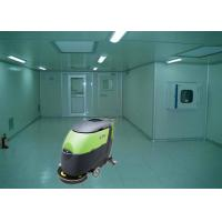 24V Battery powered Floor Scrubber , Big Efficiency OEM Commercial Floor Cleaning Machines Manufactures