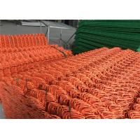 "Chain Link Fence mesh 2.5"" x 2.5"" PVC and PE coated Orange Color Diameter 8gauge/4.00mm Manufactures"