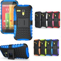 China Heavy Duty Shockproof Stand Hard Protective Cell Phone Cases For Motorola Moto G on sale