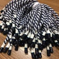 Quality Custom multi-colored 5mm draw cords for hoodie,Garment Metal tip round braided polyester rope for sale