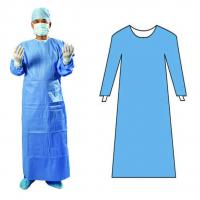 China Commercial Non - Toxic Disposable Surgical Gown 45gsm Anti - Static on sale